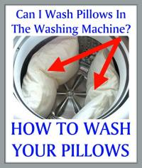 Can I Wash Pillows In The Washing Machine