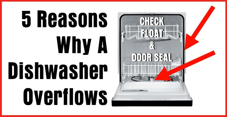 a dishwasher overflows onto the floor
