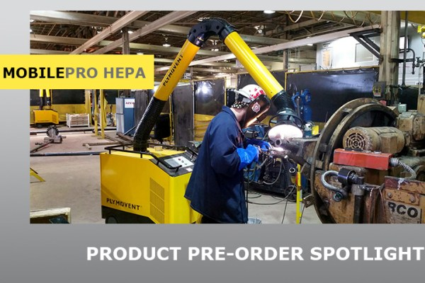 MobilePro with HEPA after filter banner, shows a welder and the fume extractor