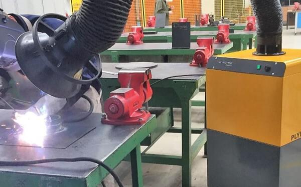 Welding using the MobileGo fume extractor