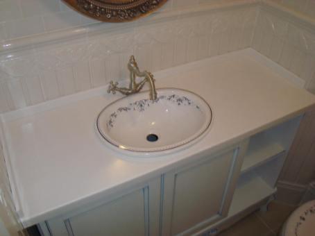 built-in washbasin