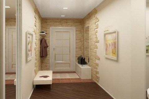 artificial stone for walls in hallway 3