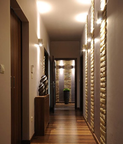 narrow corridor lighting