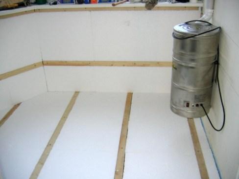 foam plastic for floor insulation on the balcony 2