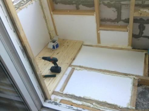 foam plastic for floor insulation on the balcony