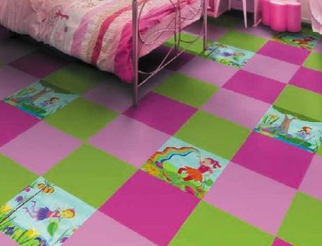 pvc floor tiles in the nursery