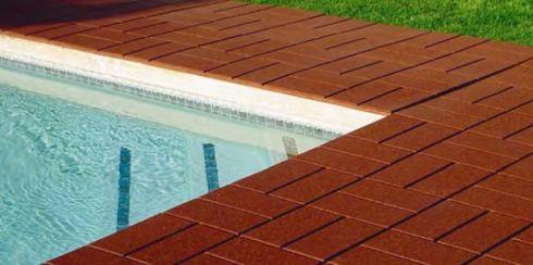 rubber tile application