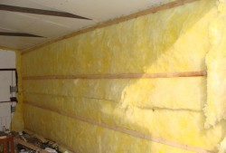 insulation of the garage from the inside with mineral wool 2