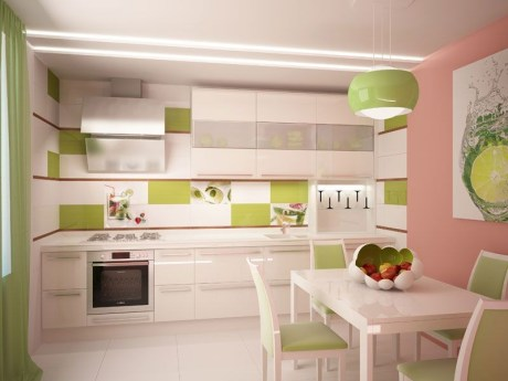 kitchen zoning with color 3