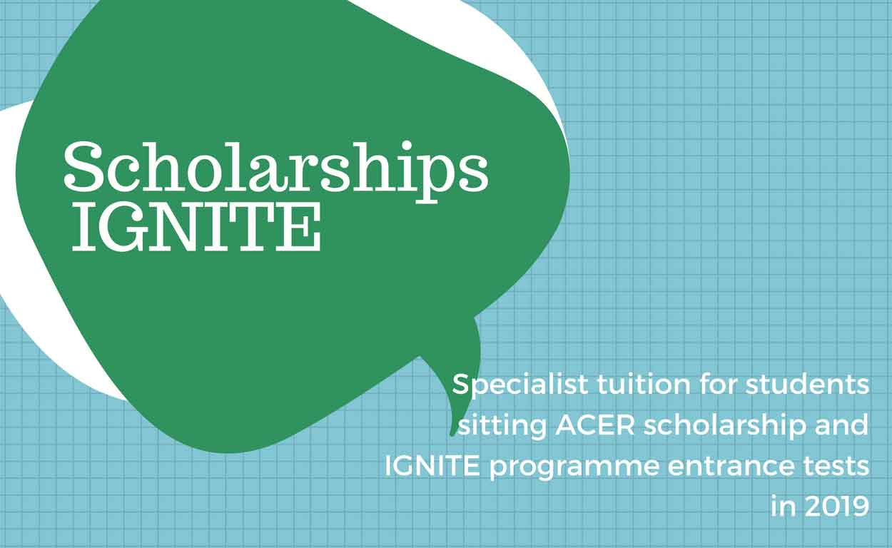 2018 Scholarship and IGNITE Programme Entry Test Tuition