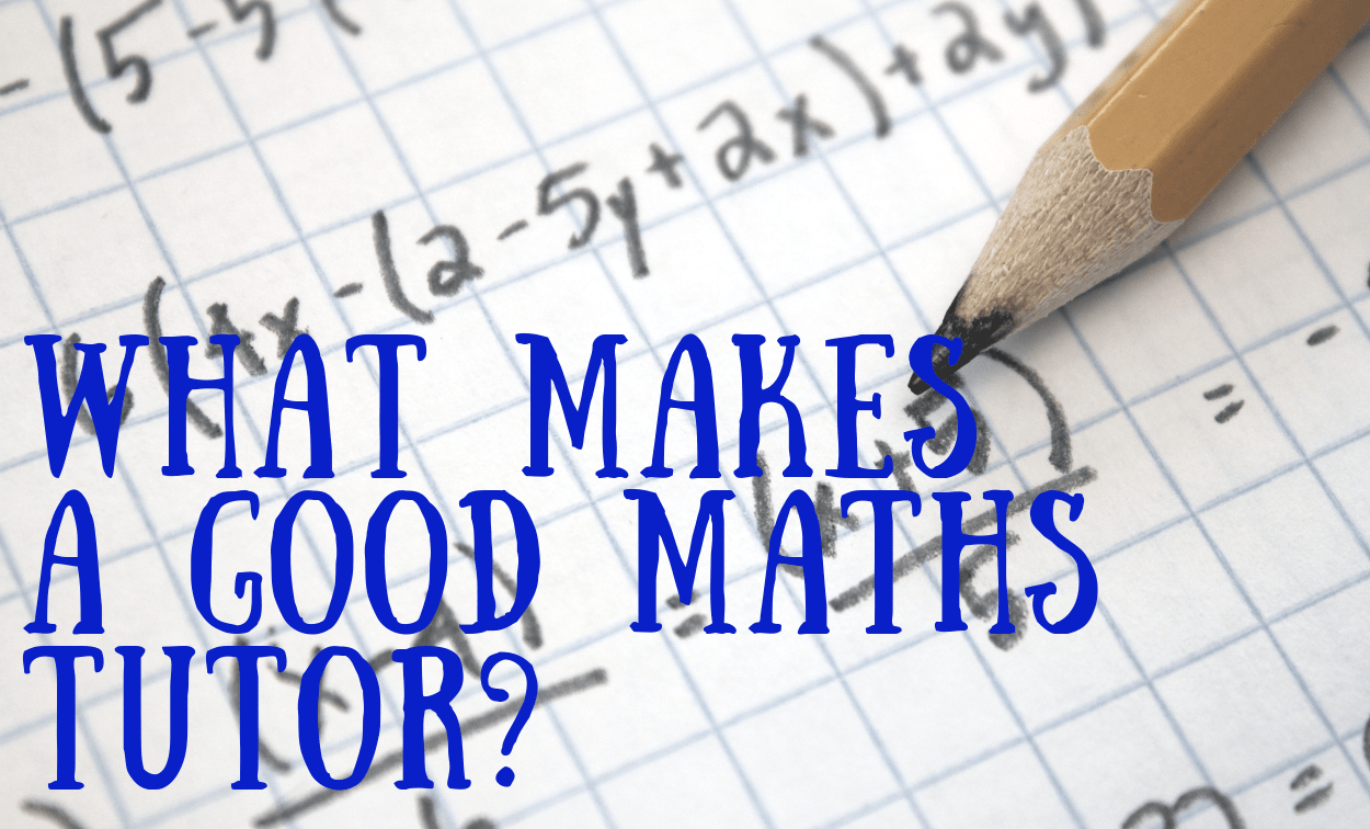 What Makes a Good Maths Tutor?