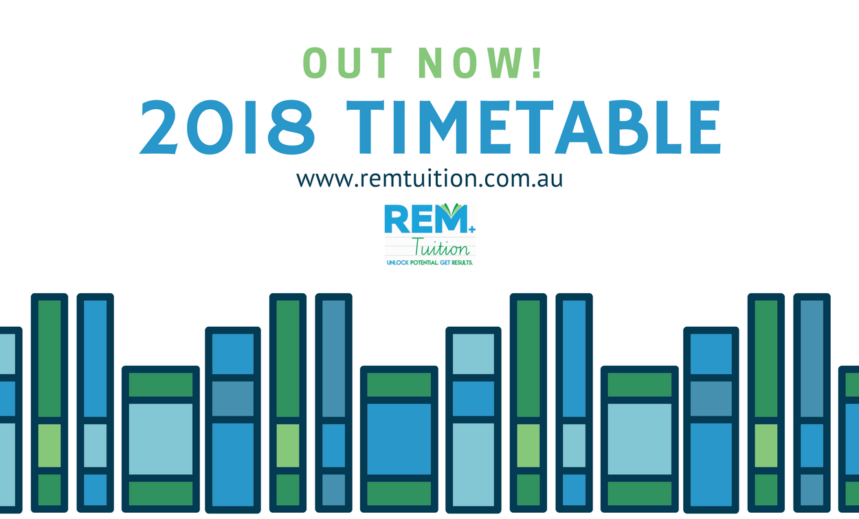 2018 Adelaide Tutors Timetable — Book Your Classes Now