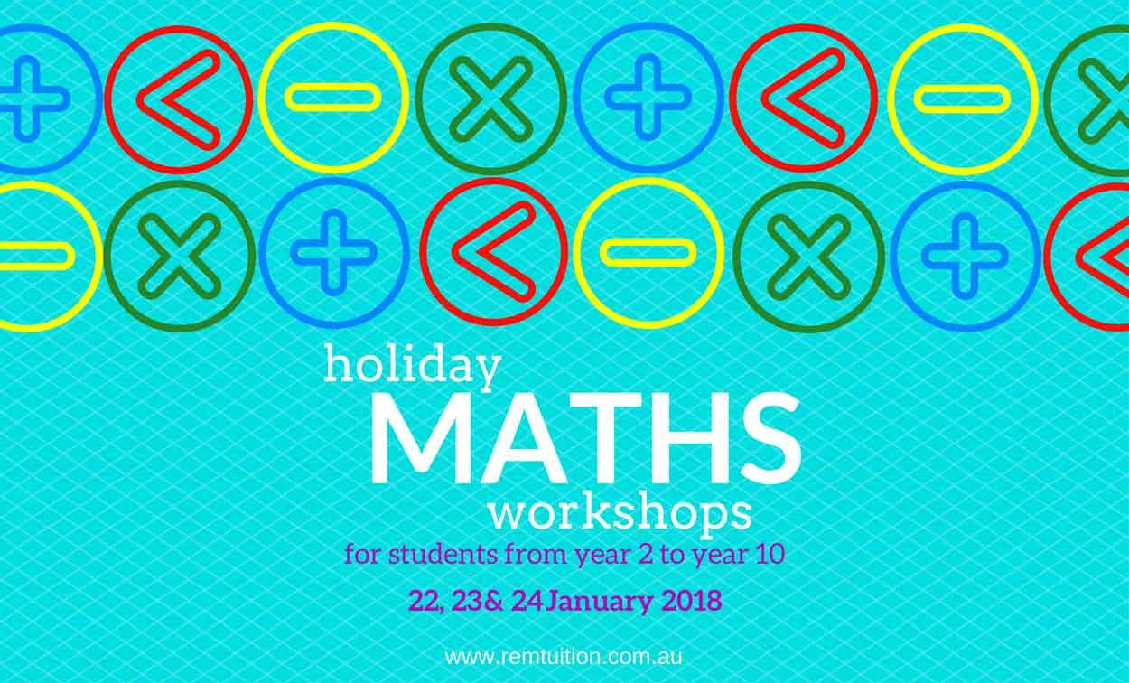 2018 Adelaide School Holidays Maths Workshops