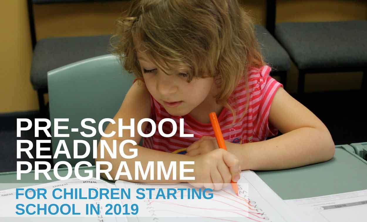 Pre-school Reading Programme for 2019 School Starters