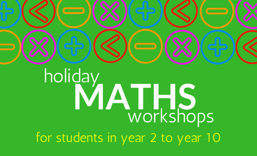 Adelaide School Holiday Maths Workshops