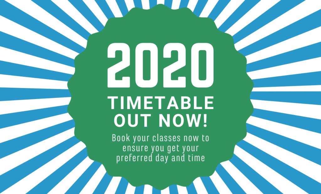 Tutors in Adelaide 2020 Timetable