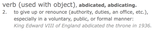 abdicate definition