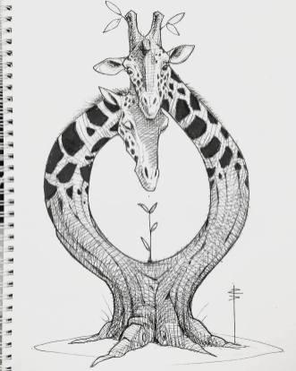 giraffe-tree
