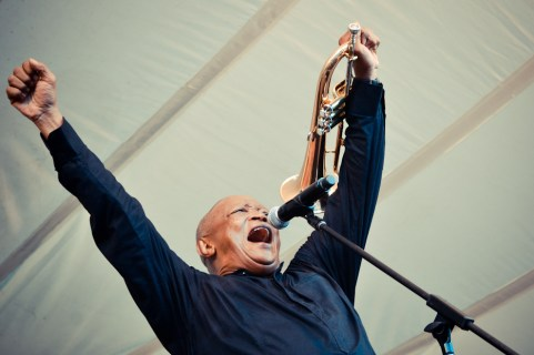 Hugh Masekela in Cape Town, South Africa.