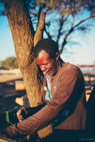 i am | the one who stops jokes from becoming flaws in the work. Auas Road, Windhoek, Namibia.
