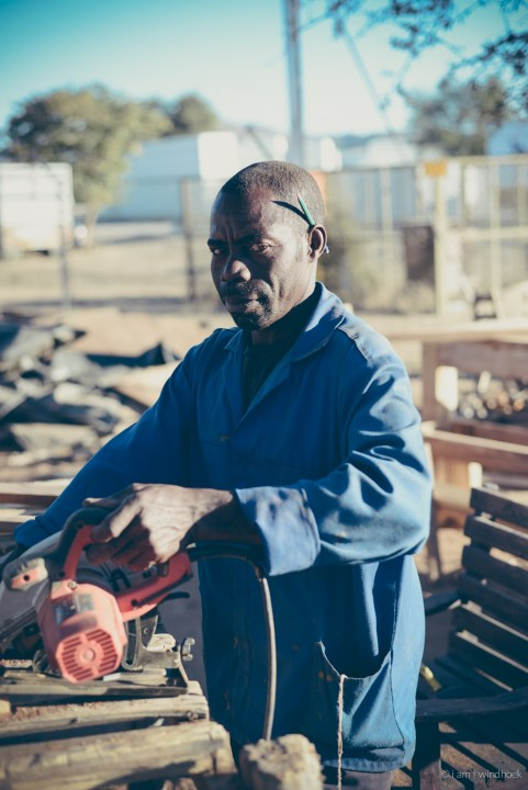 i am | Zaccharias, the 30-year veteran, the father of the apprentice. Auas Road, Windhoek, Namibia.