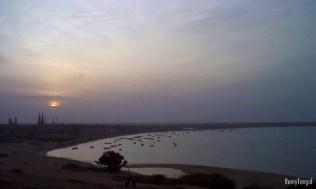 The sunset sky over the coast of Tamil Nadu, India, 2008.