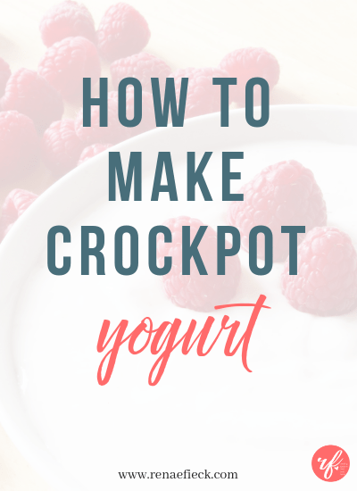 How to Make Crockpot Yogurt