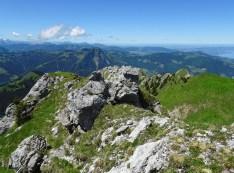 Gipfelblick in Richtung West
