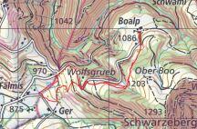 Die Strecke (Quelle map.geo.admin)