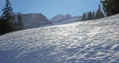Ein Teil der Alviergruppe: links Chapf 2042 m, Bildmitte Gross Fulfirst 2383 m, rechts davon Rotstein 2225 m