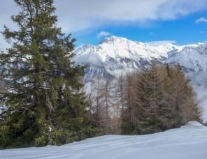 Blick hinüber in Richtung Val d'Uina, links der Piz S-chalambert Dadaint