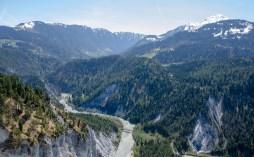 Ruinaulta - Blick von der Aussichtsplattform Conn