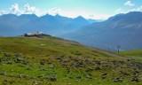 Die Alpinahütte oberhalb Corviglia