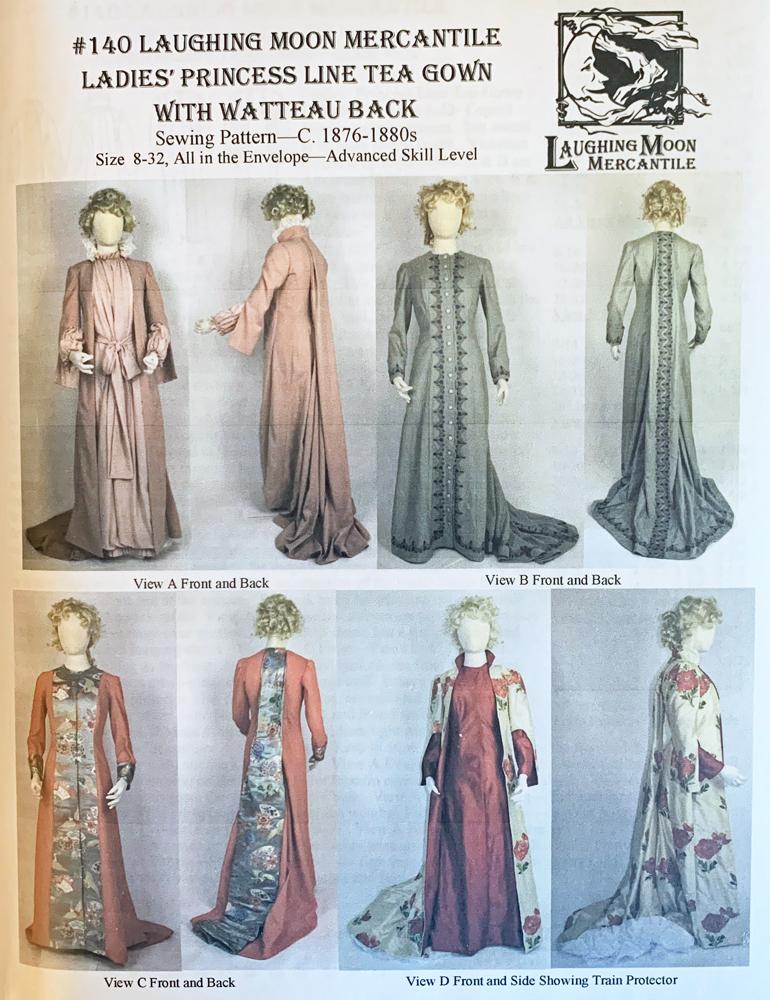 Pricess Line : pricess, Ladies', Princess, Watteau, 1876-1880's, Renaissance, Fabrics