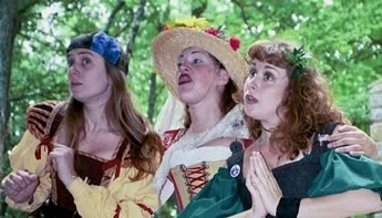 Naughty Nymphs sing bawdy songs
