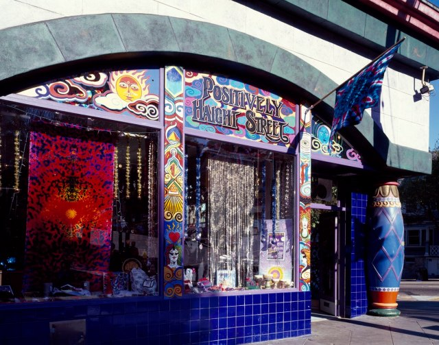 Picture of 'Head shop' on Haight Street, San Francisco, California, Hippie Movement headquarters, 1960s.