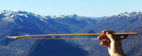 Viol bow in mountains