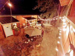 Wine Garden Top View night