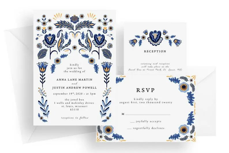 St Louis wedding invitations