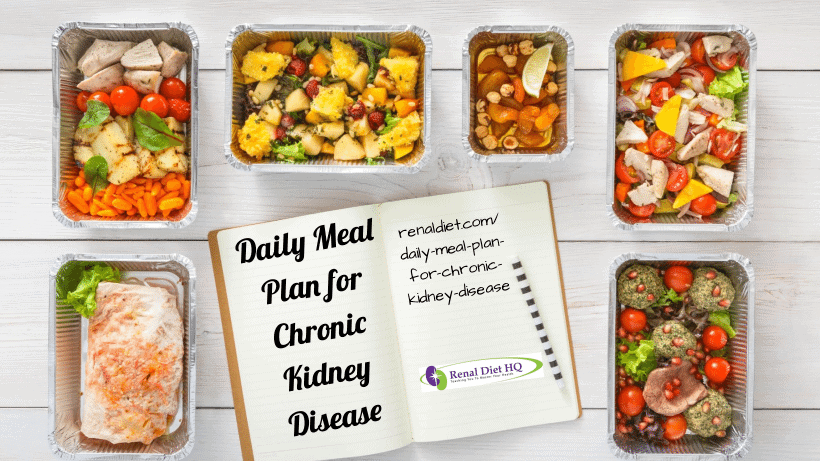 Daily Meal Plan for Chronic Kidney Disease   Renal Diet ...