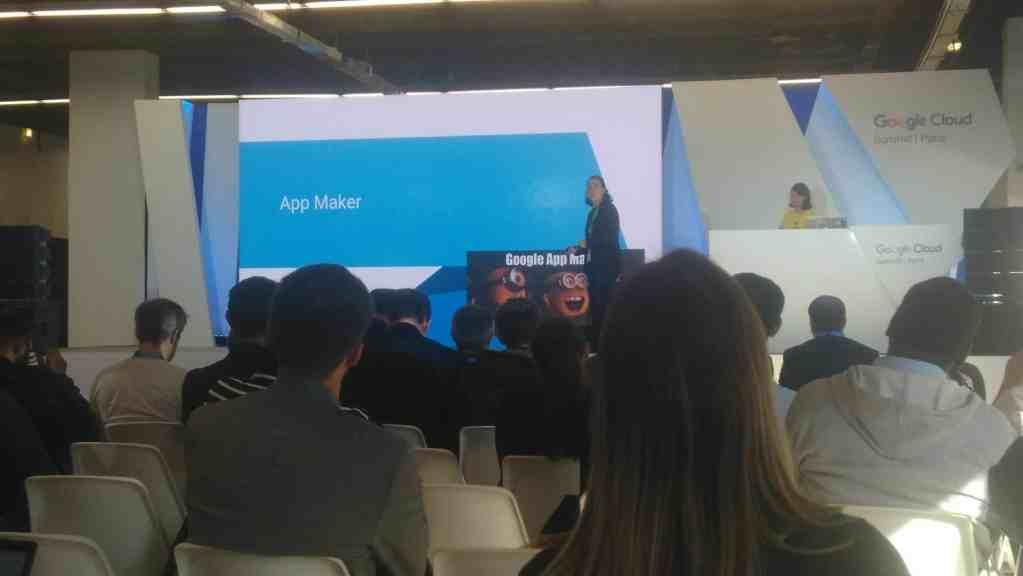Paris 2017 Google Cloud Summit app maker conference