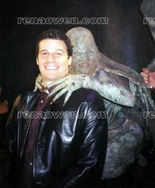 Behind the scenes with Rena (Dinza) and David Boreanaz (Angel)