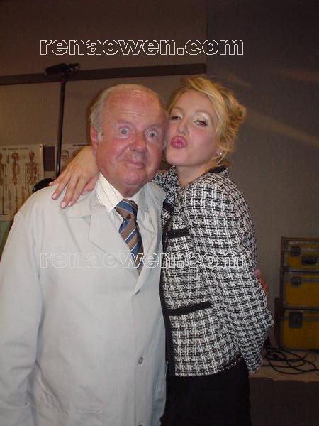 Dick Van Patten with Amanda Swisen