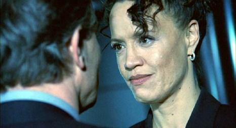 Karina (Rena Owen) speaks to Karl (Derek de Lint)