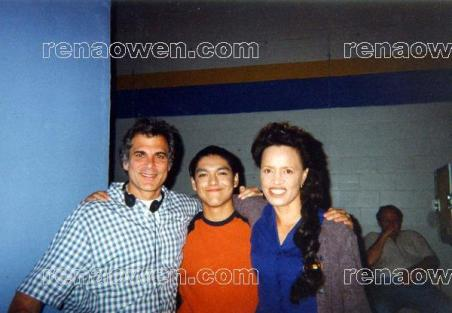 Rena with Omar Anguiano and Director Lloyd Kramer