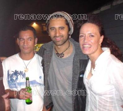 Rena with Once Were Warriors co-stars Temuera Morrison and Cliff Curtis