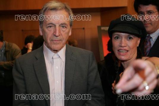 Rena with Oscar winning French Filmmaker, Costa Gavras (Z) at his DGA Screening