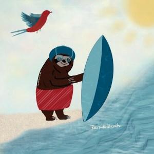 Paçoca surfista!