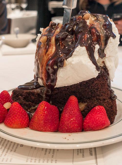 Dessert at Manny's Steakhouse in Minneapolis, Minnesota
