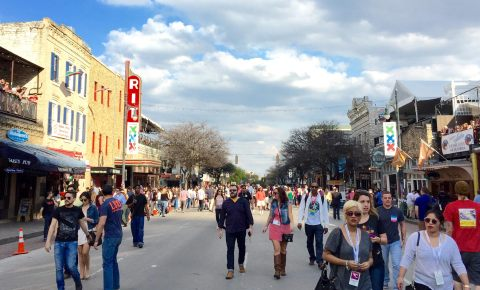 Austin, Texas during South by Southwest